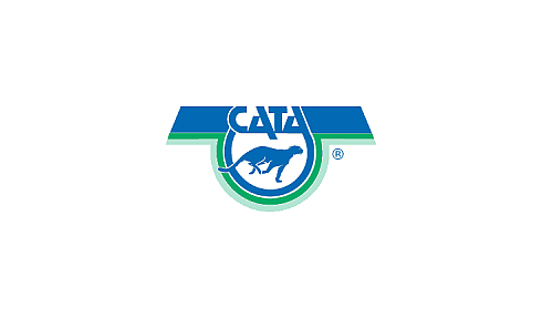 Blue and green logo of CATA